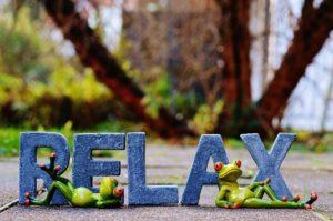 Mit der Relaxliege im Garten entspannt auch der Frosch.